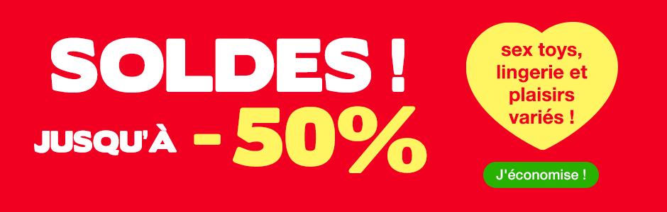 ^ SOLDES Jusqu'à -50% sur sex toys, lingerie et plaisirs variés