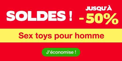 ^ SOLDES Jusqu'à -50% sur sex toys pour homme
