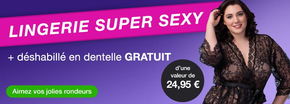 Lingerie super sexy + déshabillé en dentelle GRATUIT