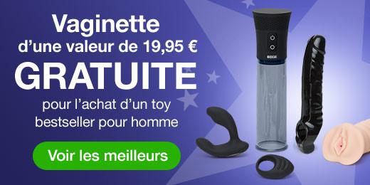 Vaginette GRATUITE pour l'achat d'un toy bestseller pour homme
