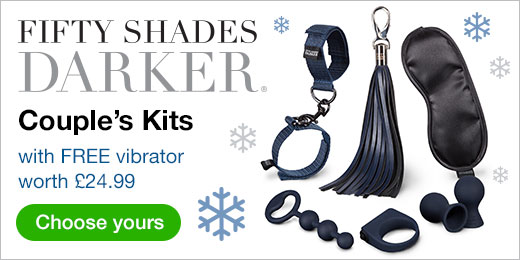 ^ Fifty Shades Darker Couple's Kits with FREE vibrator worth £24.99