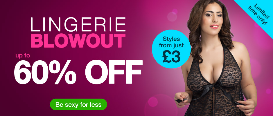 Lingerie blowout up to 60% off