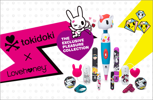 ^ tokidoki x Lovehoney sex toys - The exclusive Pleasure Collection