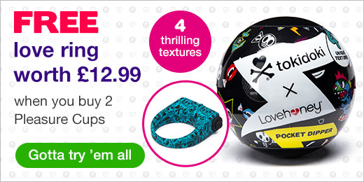 ^ FREE love ring worth £12.99 when you buy 2 Pleasure Cups