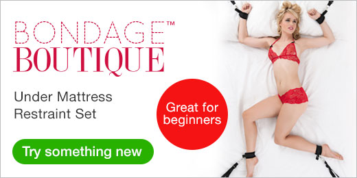 ^Bondage Boutique Under Mattress Restraint Set great for beginners