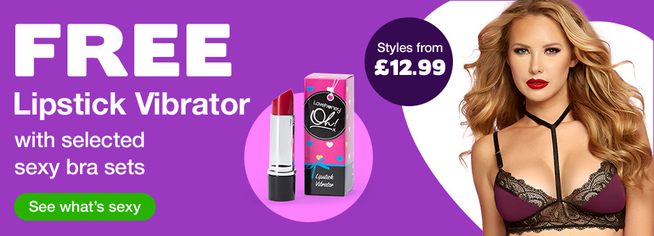 FREE Lipstick Vibrator with selected sexy bra sets