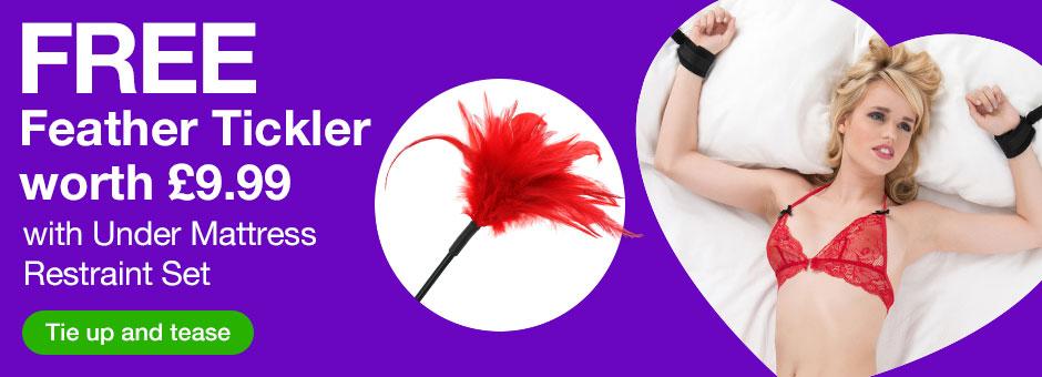 FREE feather tickler worth 9.99 with under mattress restraint set