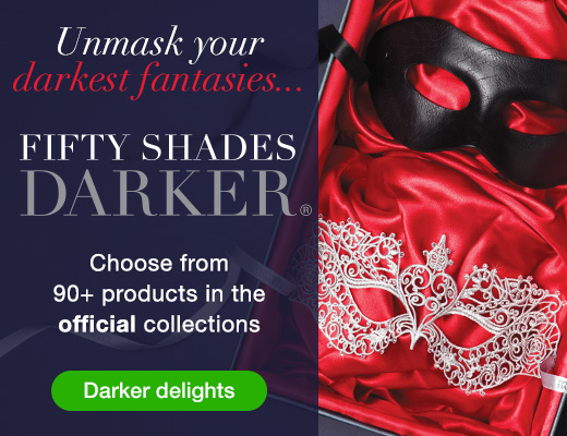 Unmask your darkest desires with Fifty Shades Darker Official Pleasure Collection
