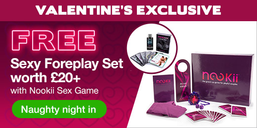 ^Valentine's Exclusive FREE Sexy Foreplay Set worth 20 with Nookii