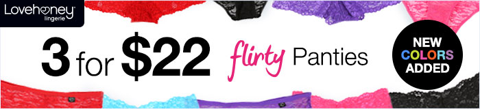 3 for $22 Flirty Panties
