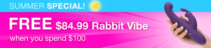 FREE Rabbit Vibe when you spend $100 US