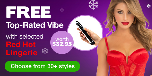 FREE Top-Rated Vibe with selected Red Hot Lingerie