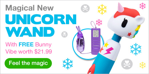 FREE Bunny Vibe worth $21.99 with the NEW Unicorn Wand