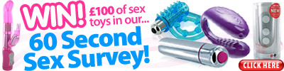 Win £100 of sex toys in the 60 Second Survey