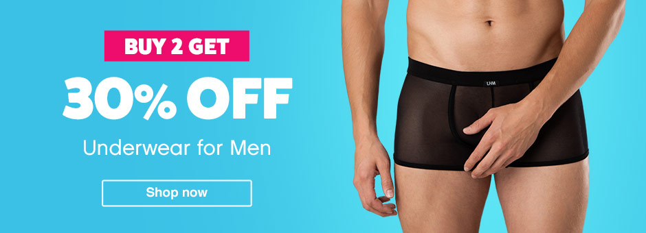 buy 2 get 30% off underwear for men