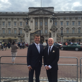 Richard and Neal at Buckingham Palace