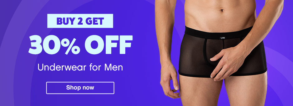 Buy 2 Get 30% off male underwear