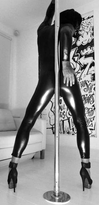 Coquette Darque Wet Look Catsuit