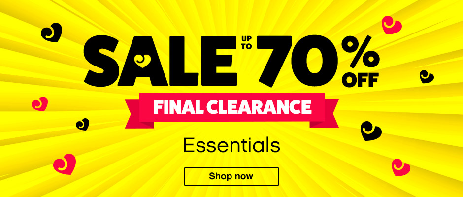 Sale Up to 70% Off Essentials