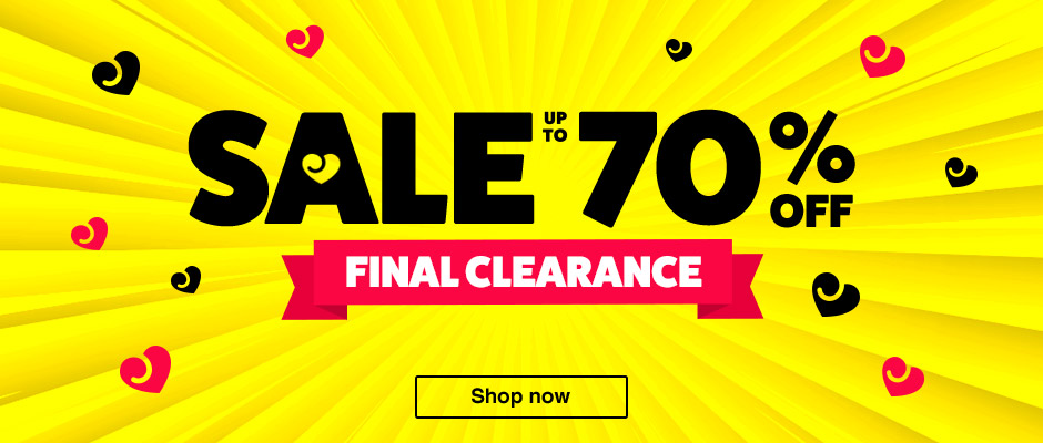 Sale Final Clearance - up to 70% off