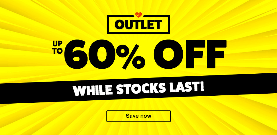 Outlet - up to 60% off