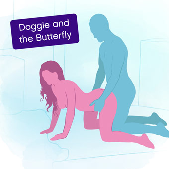 Position of the week: Doggie and the Butterfly