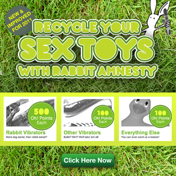 recycle your sex toys with Rabbit Amnesty