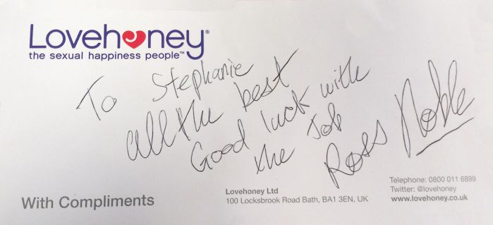 Ross sent his best wishes to Stephanie on her first day!