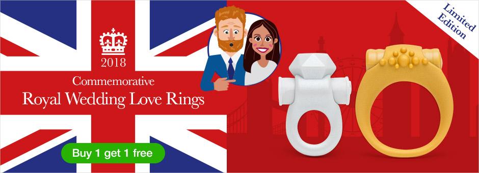 Buy 1 Get 1 Free! Royal Wedding Love Rings
