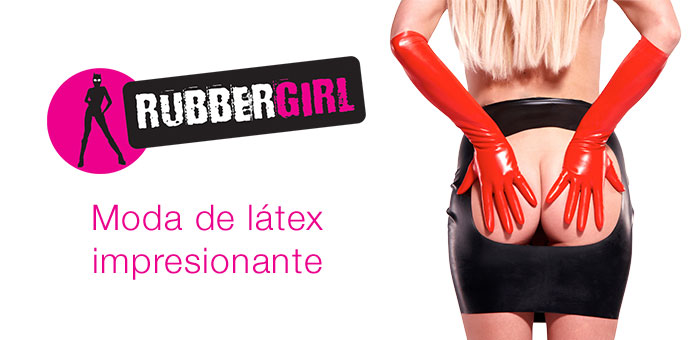 ES marca Rubber Girl brand graphic
