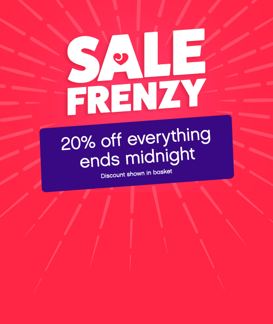 Sale Frenzy - 20% off ends midnight