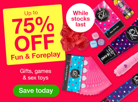 SALE: up to 75% OFF Fun and Foreplay