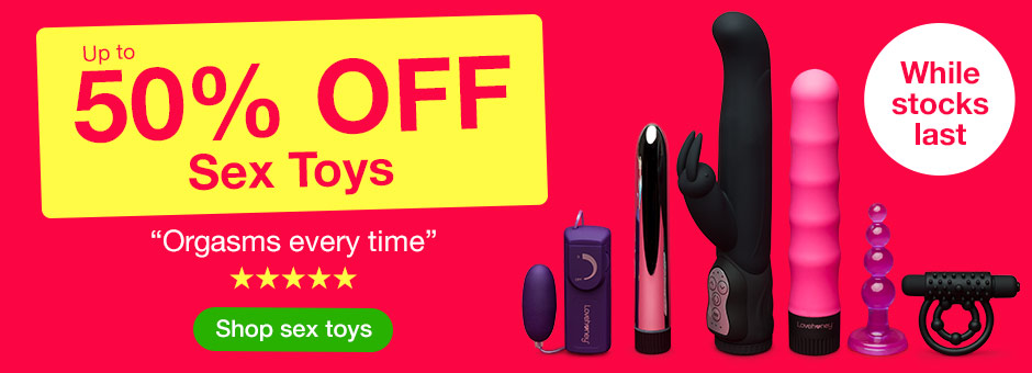 Pre-sale: Up to 50% OFF Sex Toys