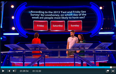 Lovehoney feature on the Million Pound Drop