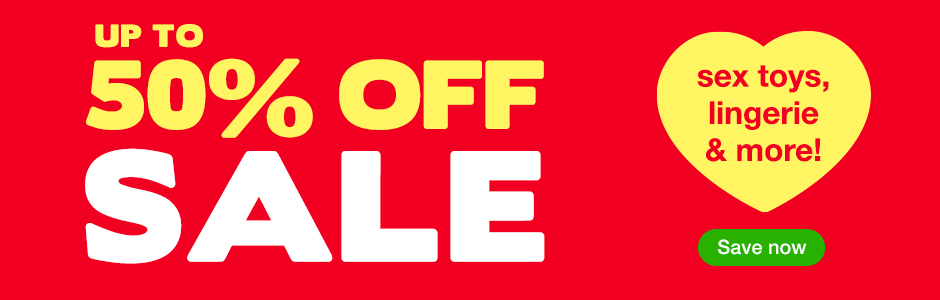 Up to 50% off sale on sex toys, lingerie and more