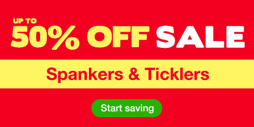 Up to 50% off sale on spankers and ticklers