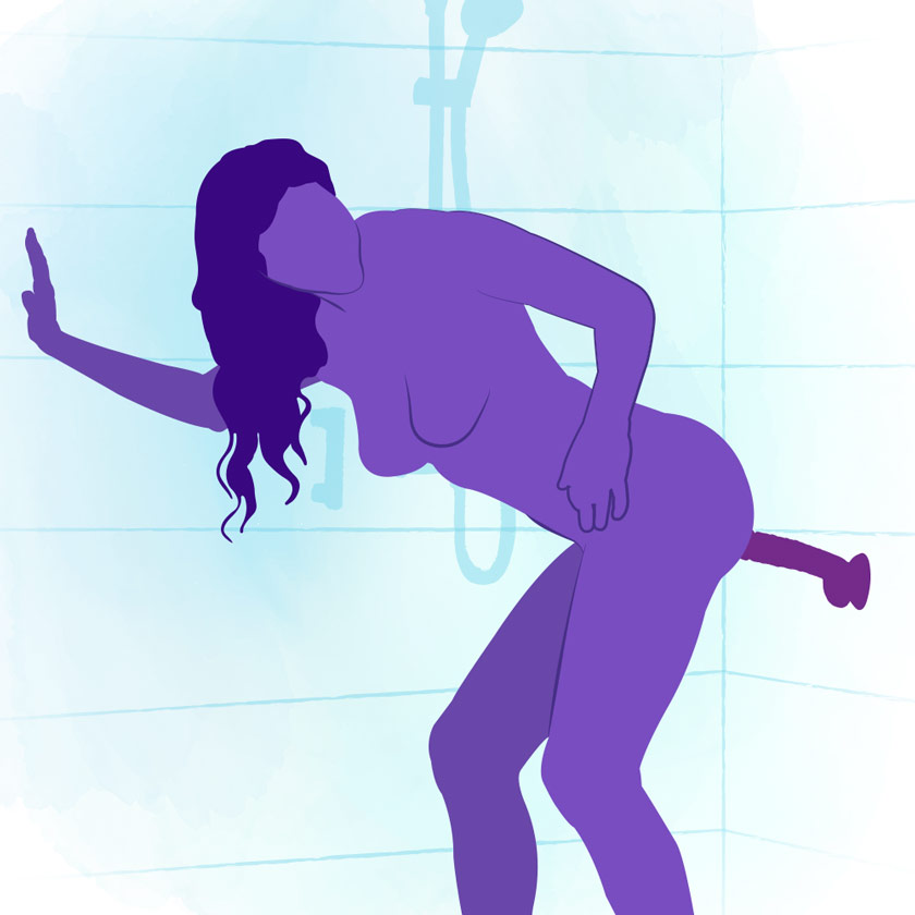 how to use a suction cup dildo - shower