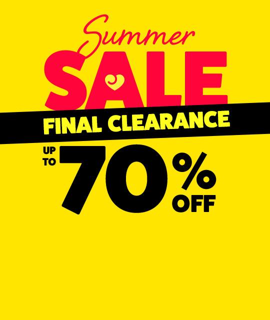 Summer Sale Final Clearance