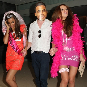 Una Healy and Rochelle Wiseman Hen Party