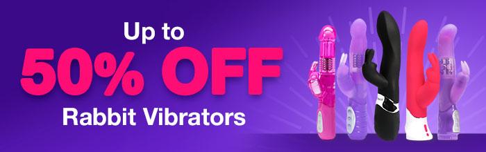 Up to 50% off Rabbit Vibrators