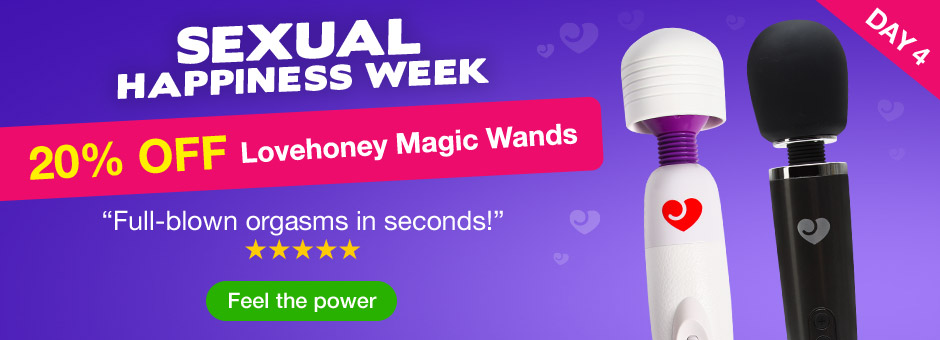 20% OFF Lovehoney Magic Wands - Sexual Happiness Week