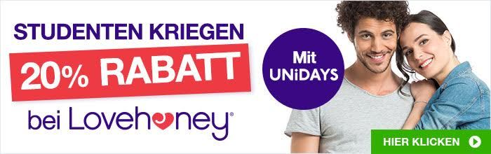Lovehoney UNiDAYS 20% Studentenrabatt
