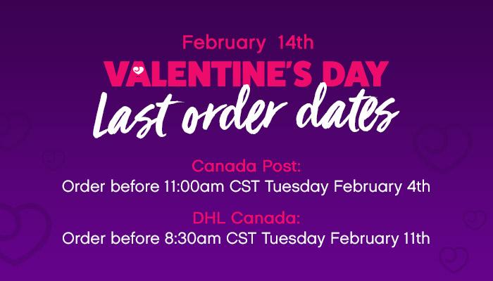 Valentine's Day Last Order Dates