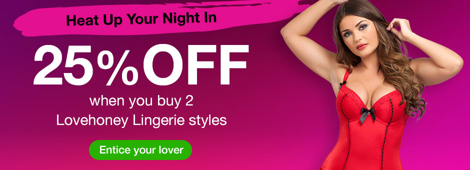 25% off when you buy 2 Lovehoney Lingerie Sets