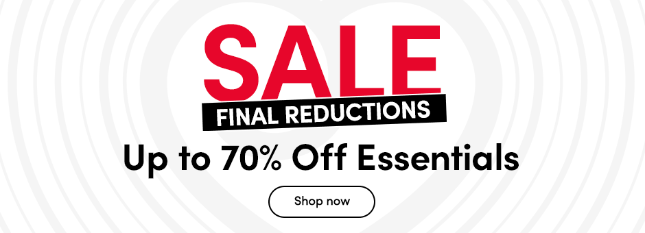 SALE Up to 50% off Essentials