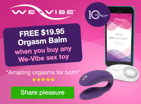 Free Orgasm Balm with We-Vibe Toys