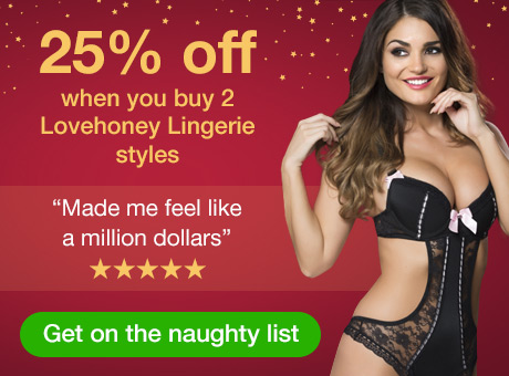 25% off when you buy 2 Lovehoney Lingerie styles